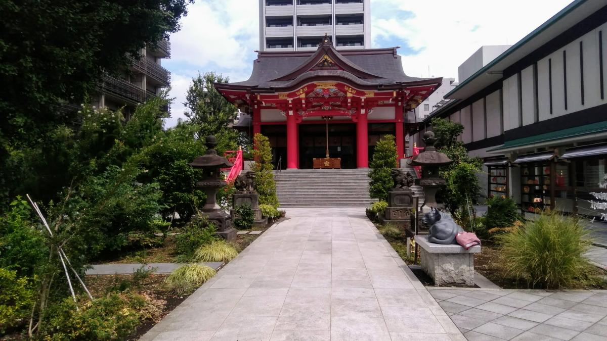 成子天神社 社殿