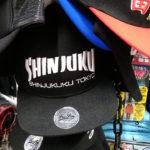"""ドン・キホーテの""""新宿""""ネーム入り帽子やTシャツ。"""